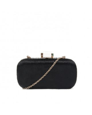 Furry Clutch Black