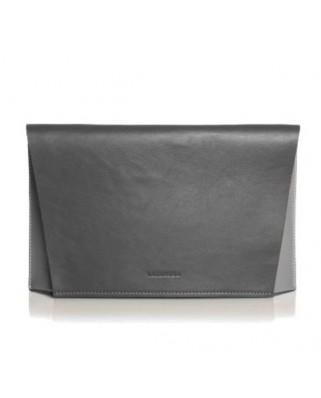Τρίχρωμη Δερμάτινη Τσάντα Capote Graphite γκρι
