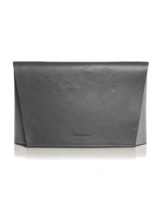 Capote Graphite Leather Bag graphite/pearl grey/fuchsia