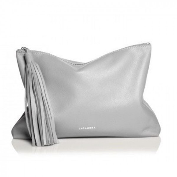 Tassel Clutch Grey