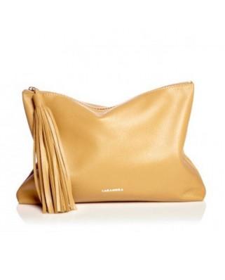 Δερμάτινη Τσάντα Tassel Clutch Amber