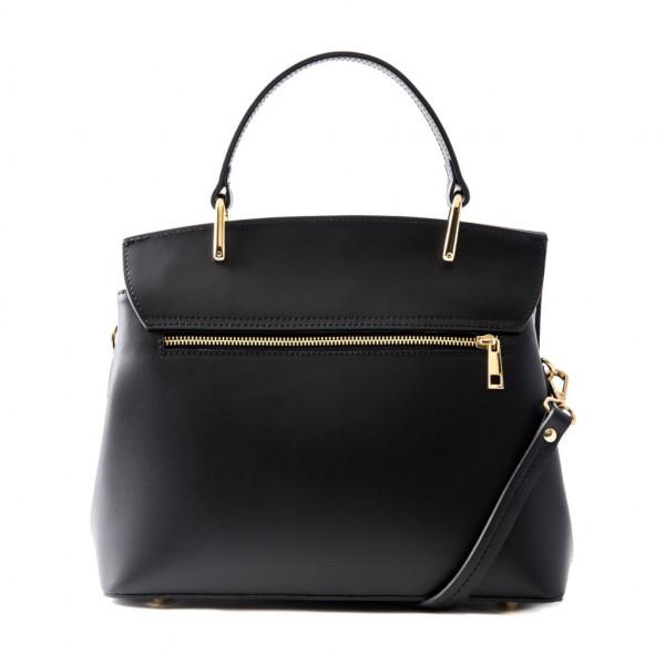 Thita Leather and Suede Handbag Black
