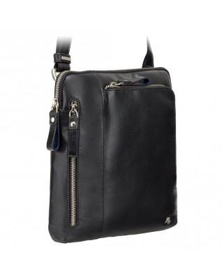 7c81f2b59c Γρήγορη προβολή · Δερμάτινη τσάντα ώμου Roy (M) - Messenger Bag A5 BLACK Δερμάτινη  τσάντα ...