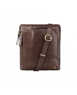 Δερμάτινη τσάντα ώμου Roy (M) - Messenger Bag A5 Brown
