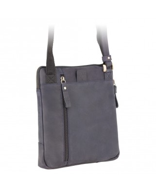 Roy (M) - Messenger Bag A5 Oil Blue