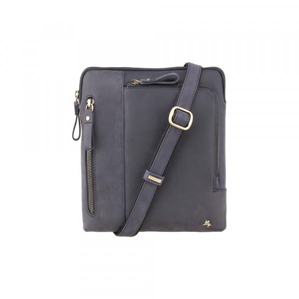 90389d0423 Δερμάτινη τσάντα ώμου Roy (M) - Messenger Bag A5 Oil Blue