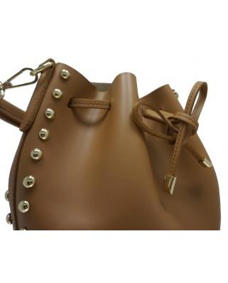 Δερμάτινη τσάντα ώμου Graziella ταμπά