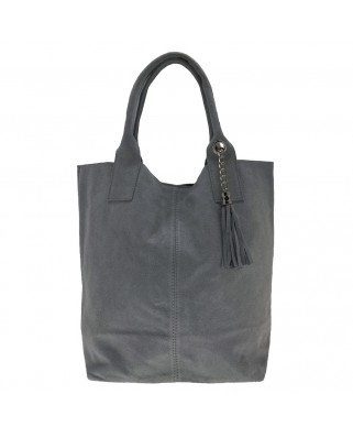 Arianna Suede Shoulder Bag Grey