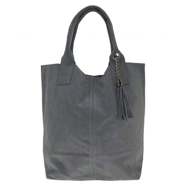 Arianna Suede Shoulder Bag Grey