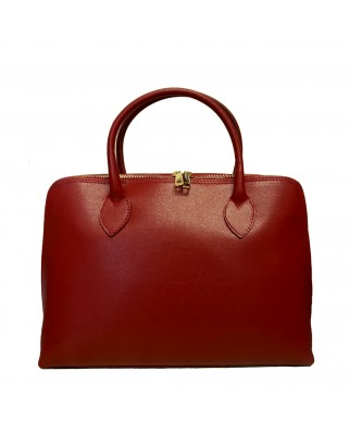 Iliana Leather Handbag Red