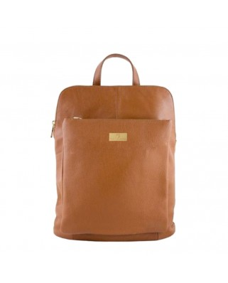 Patrizia Leather Backpack tabac