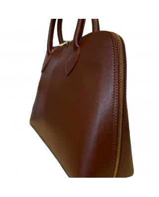 Iliana Leather Handbag Brown
