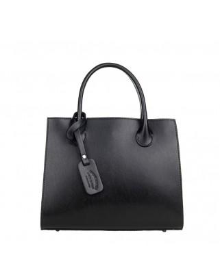 Δερμάτινη τσάντα ώμου - χειρός Kate μαύρη