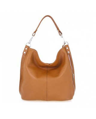 Ludmila Leather Shoulder Bag Tabac