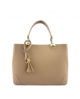 Lucia Leather Handbag taupe