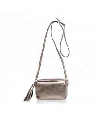 Mini Chic Leather Clutch Bronze