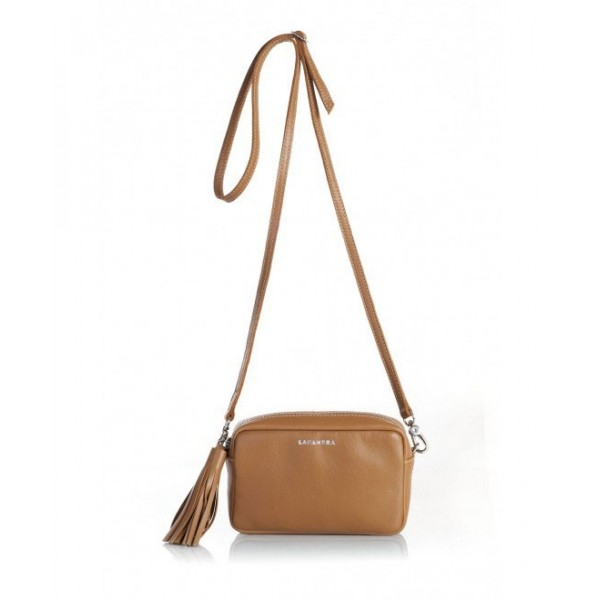 Mini Chic Leather Clutch Camel