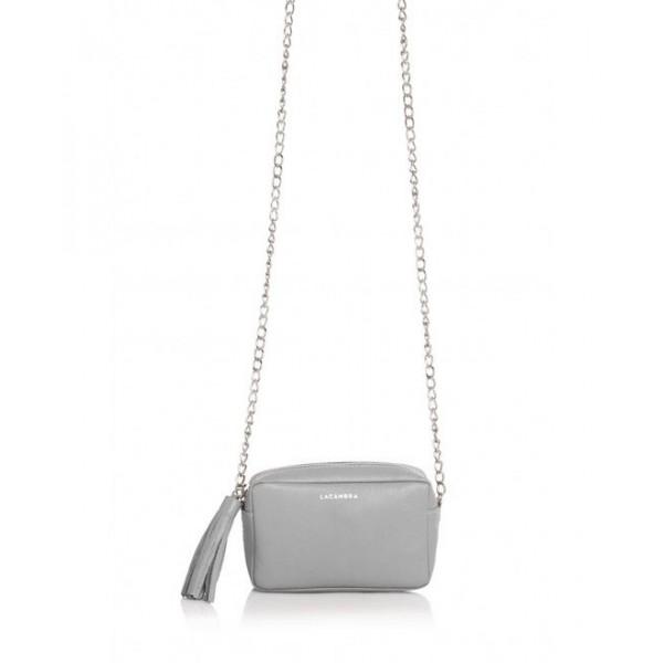 Mini Chic Leather Clutch grey