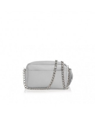 Mini Chic Leather Clutch grey