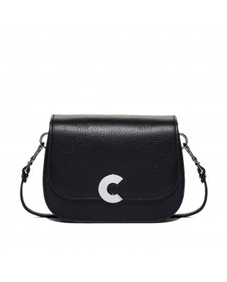 Craquante black Leather Shoulder Bag