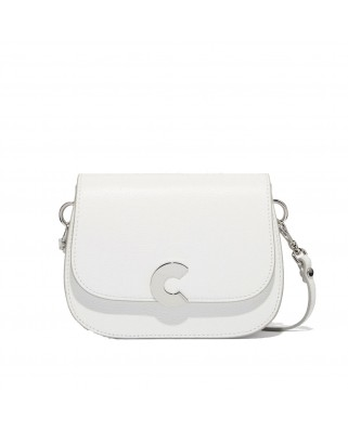 Craquante white Leather Shoulder Bag