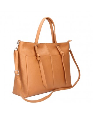 Malve Leather Bag cognac