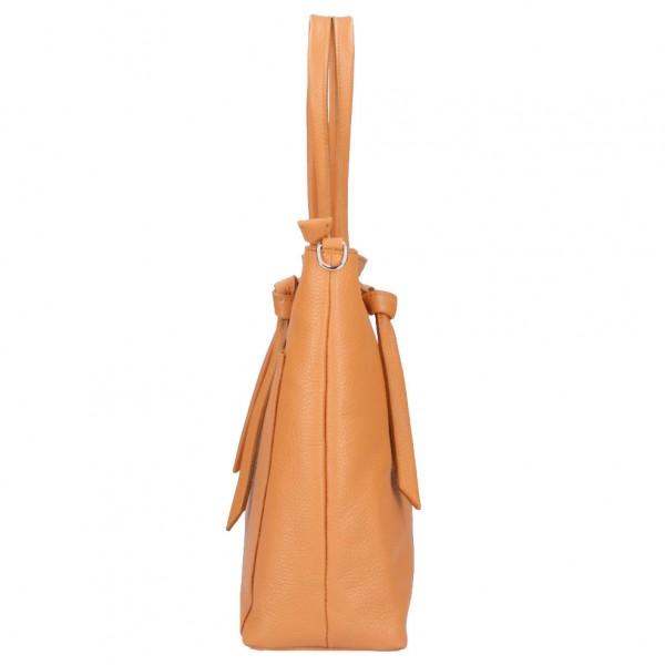 Malve Leather Bag cognac