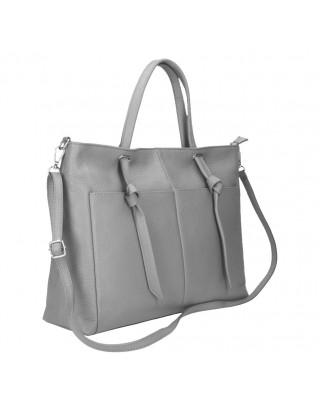 Malve Leather Bag grey