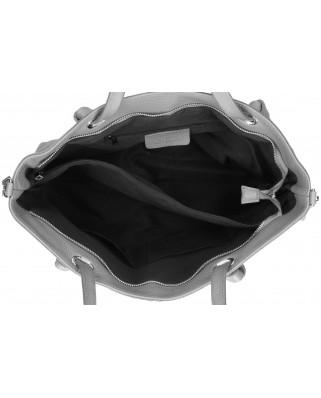 Malve Leather Bag grey