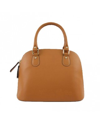 Megan Leather Handbag tabac