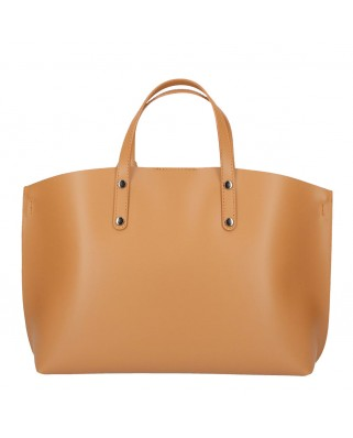 Casilda Leather Handbag tabac