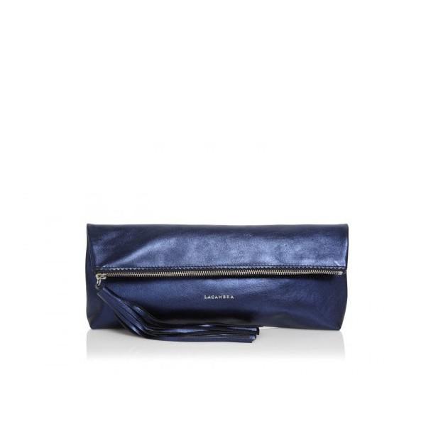 1048af3ed8 Δερμάτινη Τσάντα Tassel Clutch Metallic Blue - Sisbags.gr