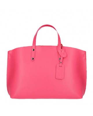 Casilda Leather Handbag fuchsia