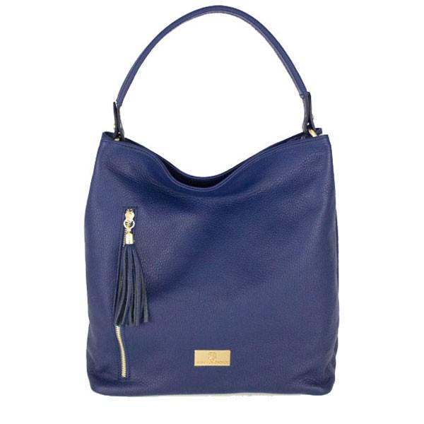 Dania Leather Shoulder Bag blue