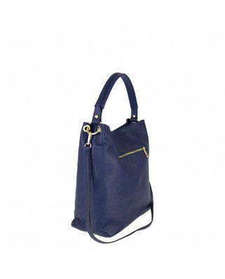 Δερμάτινη τσάντα ώμου Dania μπλε