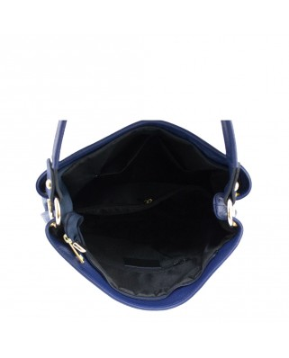 Dania Leather Shoulder Bag blue