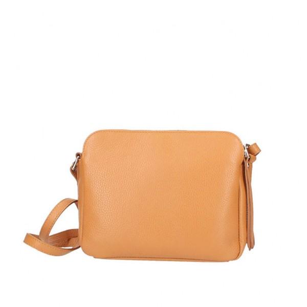 Fosca Leather Bag cognac