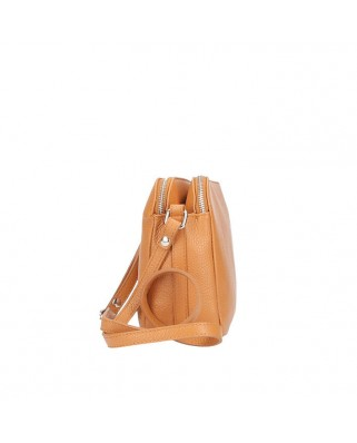 Fosca Leather Bag cognac