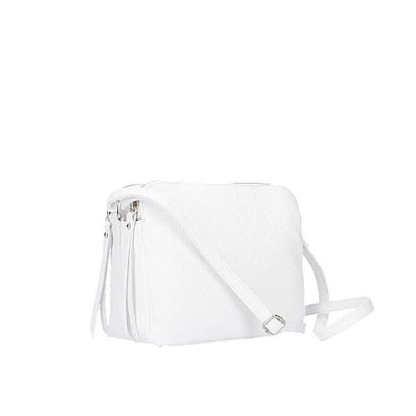 Fosca Leather Bag white