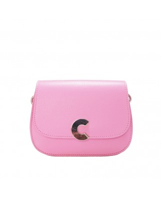 Craquante bubble gum Leather Shoulder Bag - E1DN5-550101-P10