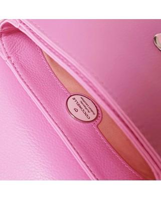 Δερμάτινο τσαντάκι ώμου Craquante ροζ