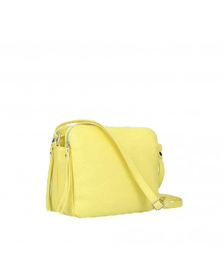 Fosca Leather Bag lemon