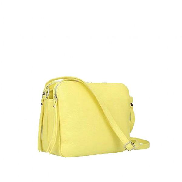 Fosca Leather Bag lemon