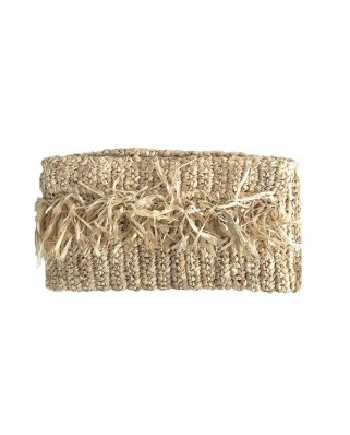 The Ibiza Fringe Clutch Sand