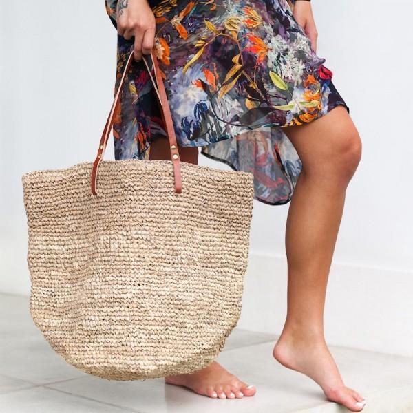 Ψάθινη Τσάντα The Straw Beach Bag Sand