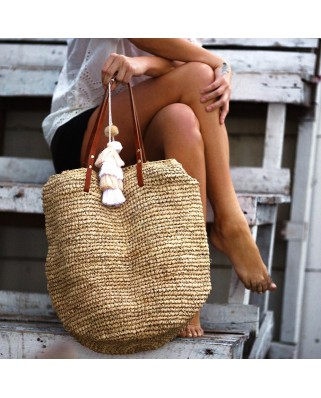 The Straw Beach Bag Sand