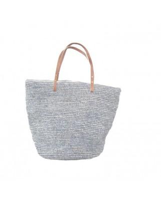 16dac12fdf Γρήγορη προβολή · Ψάθινη Τσάντα The Straw Beach Bag Soft Grey ...
