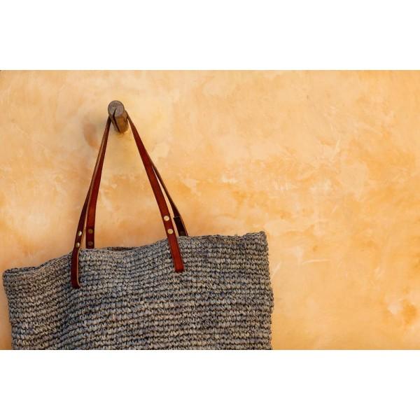 Ψάθινη Τσάντα The Straw Beach Bag Soft Grey