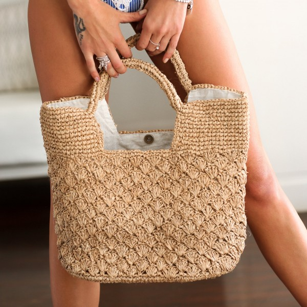 Ψάθινη Τσάντα The Straw Woven Grace Tote Sand