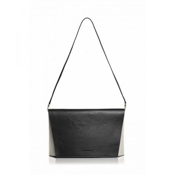 Capote Paula Leather bag black/white/red